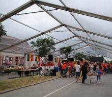 Transparante tent van 16m breedte lengte tot 55m